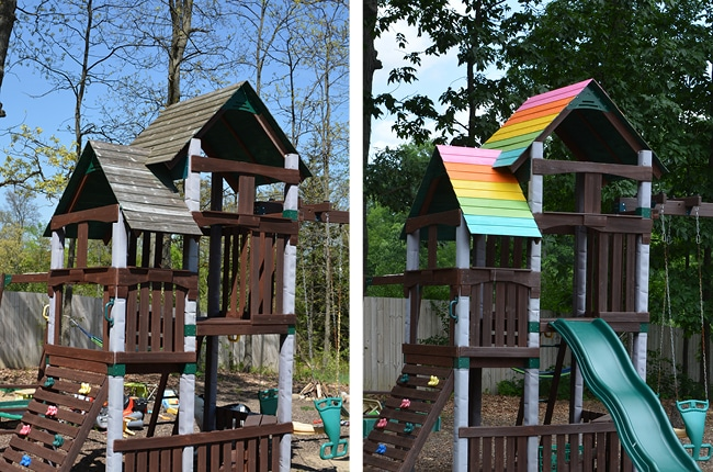 An outdoor playset makeover will tidy up your space and keep your investment in tip-top shape.