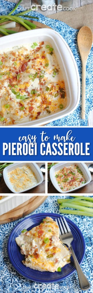 Easy to make pierogie casserole is easy to make and delicious!
