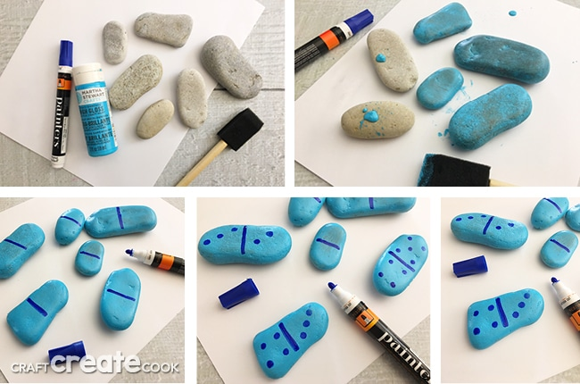 Our DIY Rock Dominoes are a perfect game to bring camping.