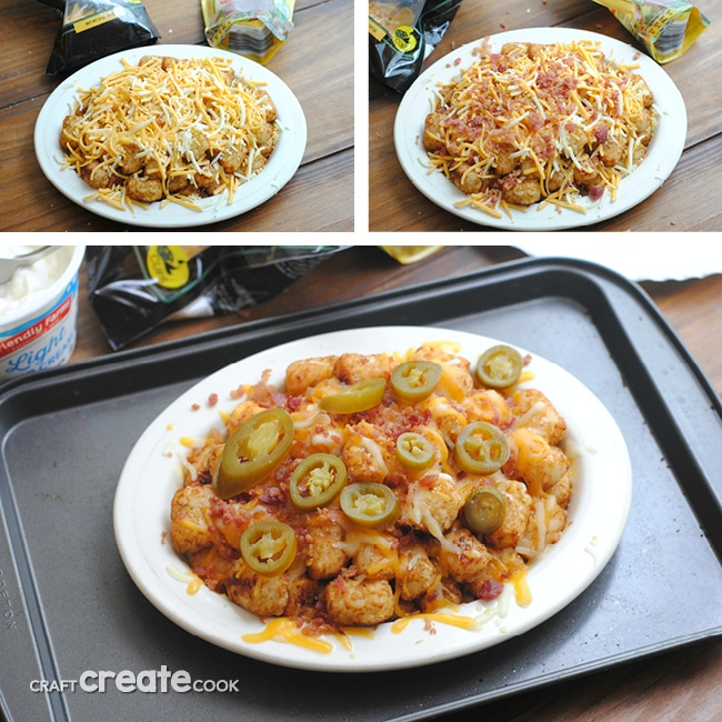 Homemade Totchos are easy to make, delicious and perfect for when you're craving bar food!