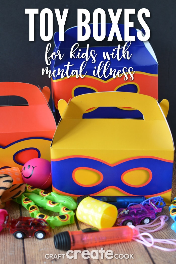 One small act of making small boxes of toys can help children with mental illness.