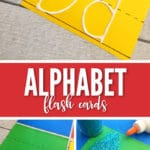 These DIY Glittered Alphabet Flashcards are the perfect craft to get your kids learning their letters.