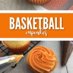 These Easy Basketball Cupcakes will make any sports Birthday party a ball.