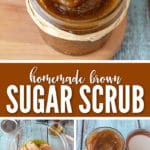 A homemade brown sugar scrub will remove dead skin and give you that healthy glow.