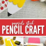 Our Popsicle Stick Pencil Craft for Kids is a great craft to get your little ones excited about the school year!