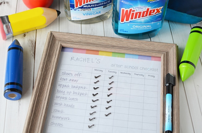 This after school checklist routine will help keep your child on track!