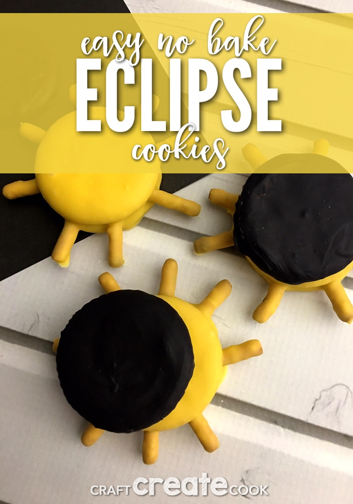Our easy no bake eclipse cookies are the perfect snacks to make for before you view the solar eclipse.