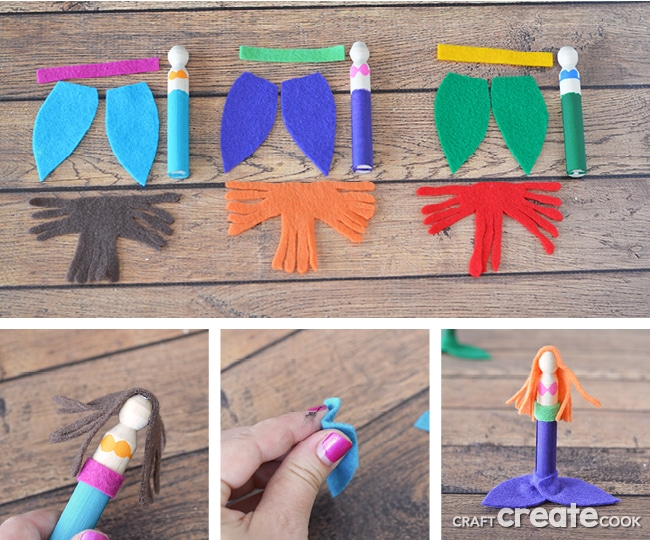 If you have a mermaid lover in your life, you need to make this mermaid craft together!