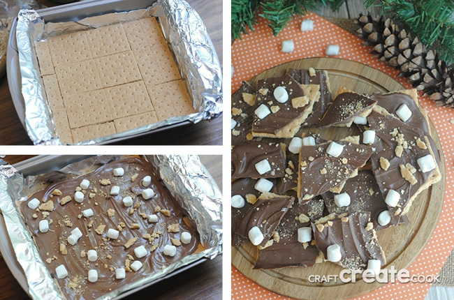No bake s'mores bark is the perfect s'mores treat for anytime of year!