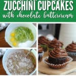 Homemade Chocolate Zucchini Cupcakes