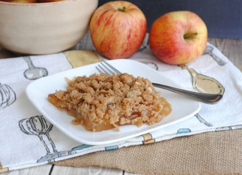 This easy apple crisp recipe is perfect for fall!
