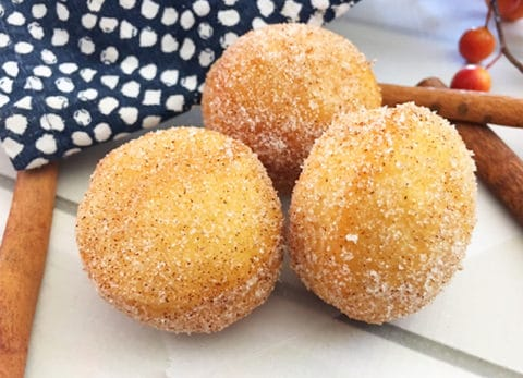 These Apple Cider Donut Holes taste like Fall and are delicious with a cup of coffee or a glass of cold milk.