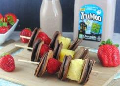 Mini chocolate milk pancakes are fun to make and eat!