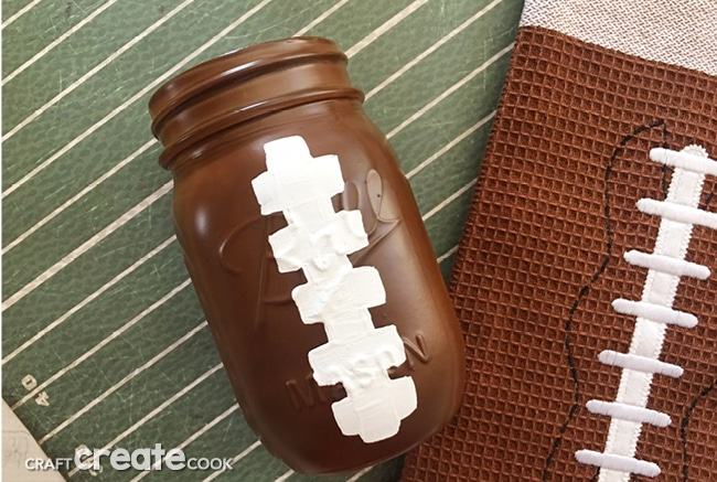 Our Football Mason Jars are perfect for any football party or tailgate.