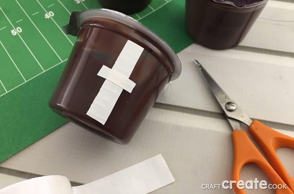 Our Easy To Make Football Pudding Cups are perfect for team treat or for any football lover.