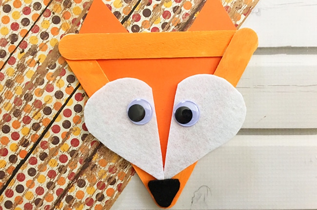 Our Popsicle Stick Fox Craft is easy to make and makes you think of all those adorable woodland animals.