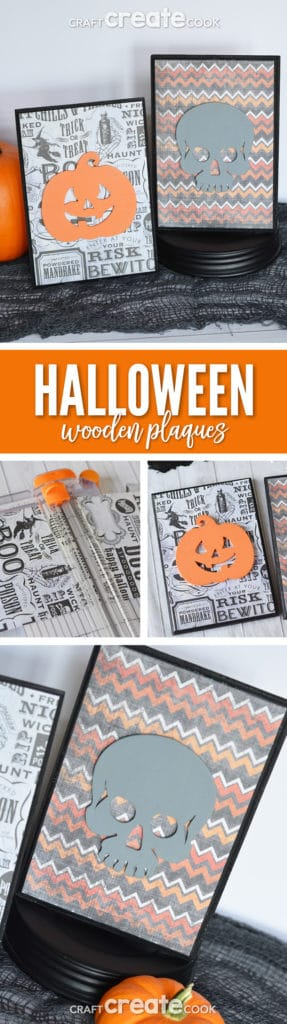These wooden plaques are so easy to make you'll not only make them for Halloween but all holidays!