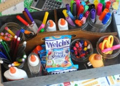 This essential homework caddy is perfect for back to school!