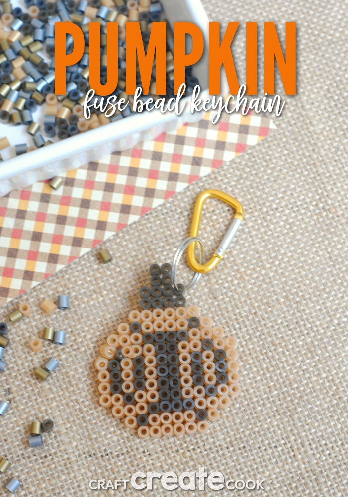 This pumpkin keychain is easy to make and a fun fall project for the kids!
