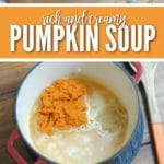 This amazing rich & creamy pumpkin soup is perfect for cooler days!