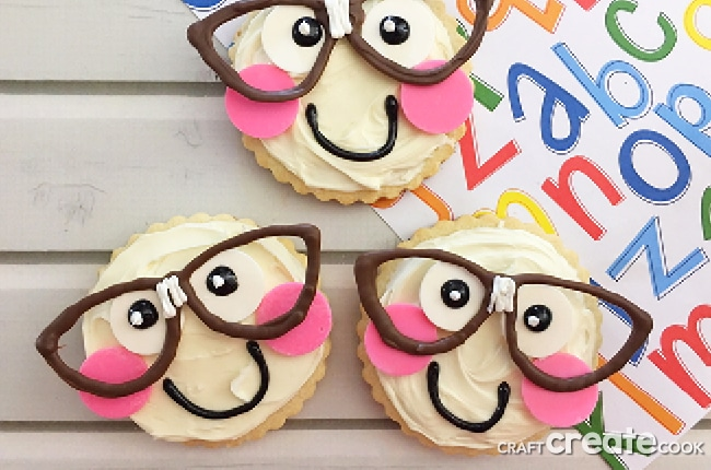 """Smart Cookie"" Sugar Cookies are the perfect back to school treat for your kids first day of school."