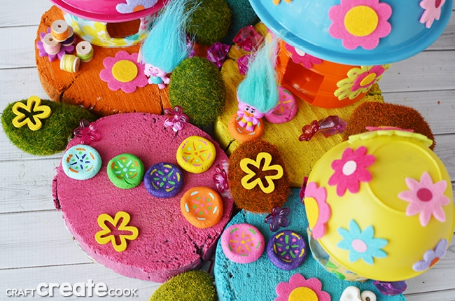 You can make your own troll fairy garden for hours of fun!