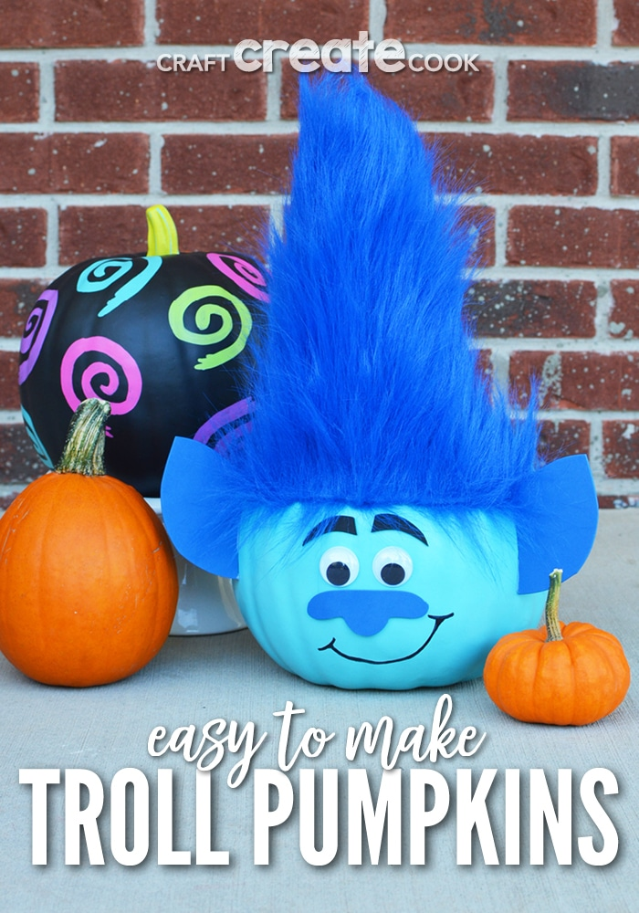 Craft create cook troll pumpkins to make for halloween