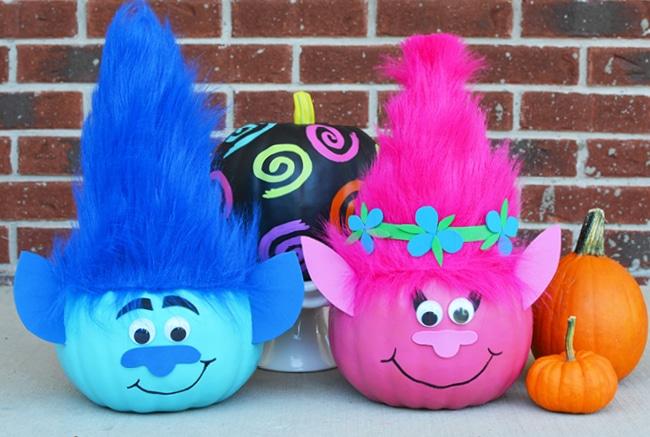 Troll Pumpkins To Make For Halloween Craft Create Cook