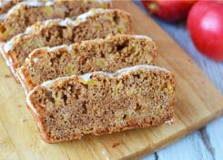 This dense apple bread is easy to make and will make your house smell amazing.