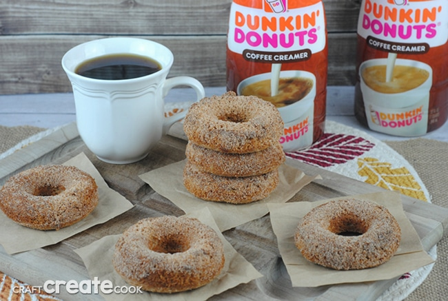 Baked Breakfast Donuts are delicious and go great with a hot cup of coffee!