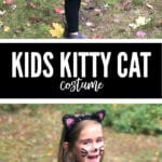 This DIY Kids Kitty Cat Costume is perfect for any last minute parent!