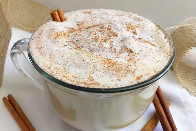 Our Snickerdoodle Latte smells and tastes like Fall, it's a perfect combination of coffee and cream that will warm you right up.