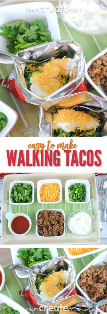 Walking Tacos are the perfect weekend or game day meal!