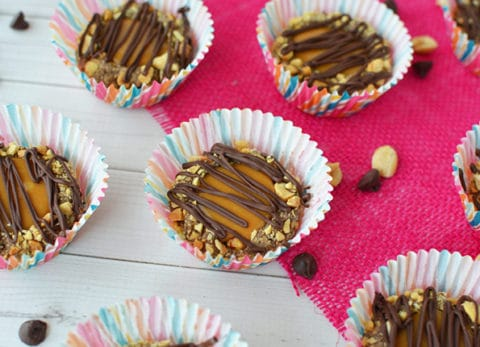 Caramel chocolate peanut butter no bake cookies are perfect for your next holiday cookie exchange.