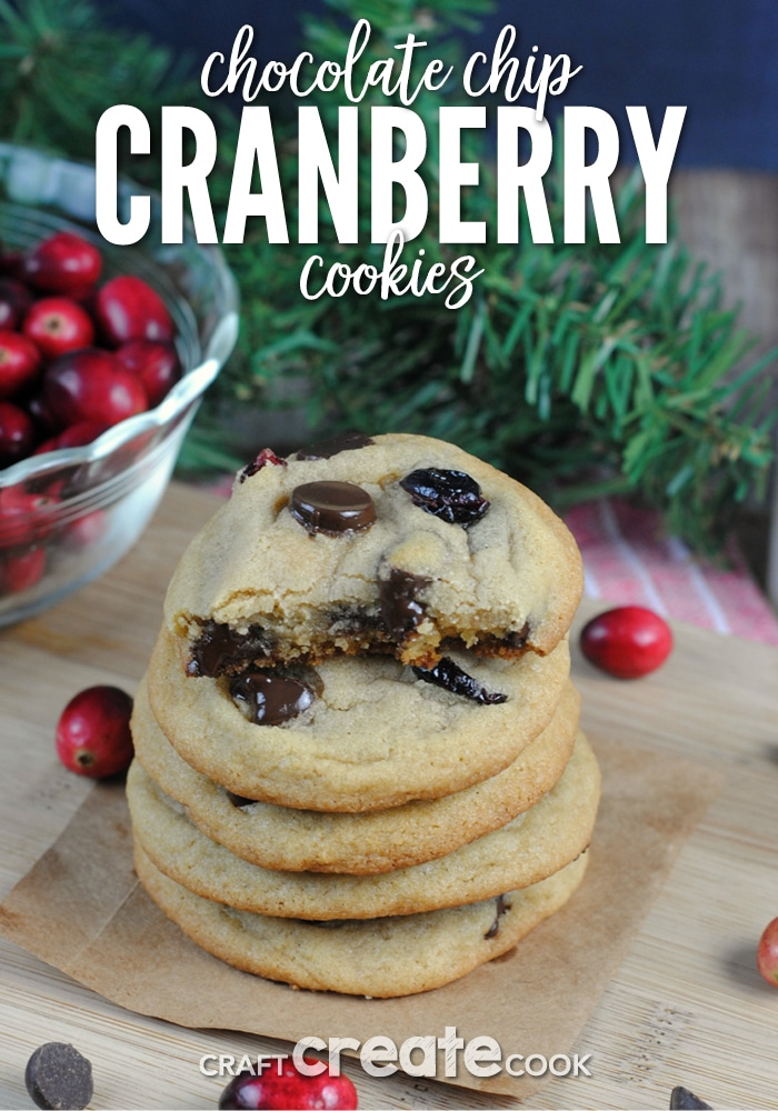 Chocolate Chip Cranberry Cookies are the perfect holiday cookie!