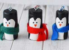 Penguin cork ornaments are a great way to add winter fun to your holiday decor!