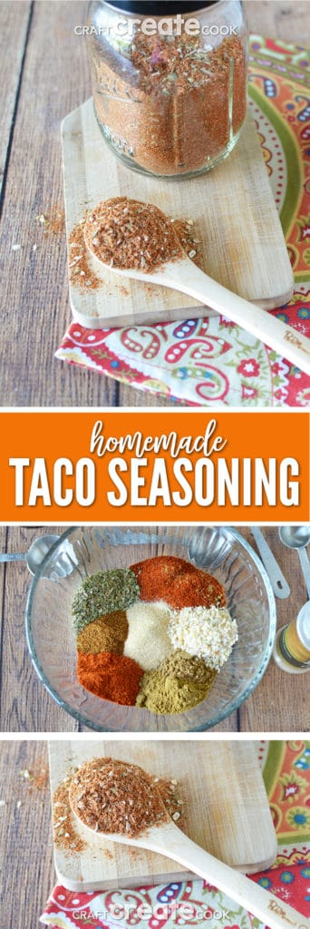 Making your own homemade taco seasoning is so much better than store-bought!