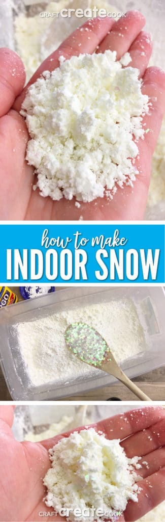 This 3 Ingredient Indoor Snow is all the fun of snow without the cold of going outside.