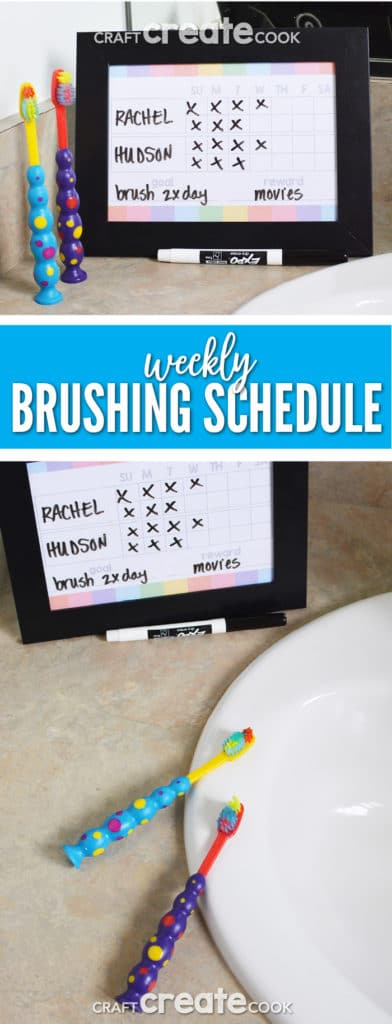 Keep kids on track with a weekly brushing schedule for healthy teeth.