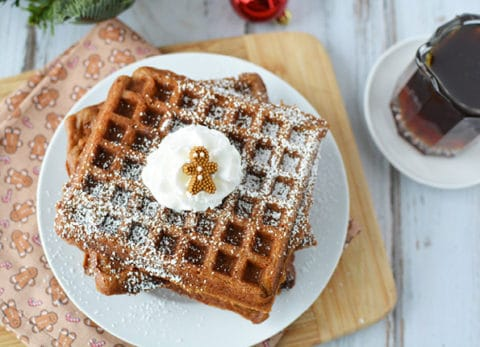 If you are looking for a festive holiday breakfast, these gingerbread waffles are sure to become one of your favorite!