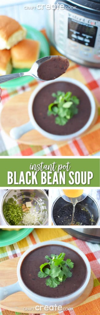 This hearty instant pot black bean soup is hearty and perfect for keeping your heart health in check.