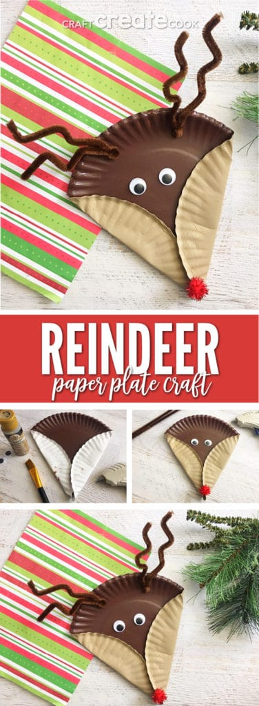 This Rudolph Paper Plate Craft for Kids is so festive and fun, you'll want to sing your favorite Christmas Rudolph song.
