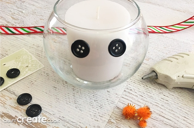 This DIY Winter Snowman Candle Craft will not only look festive, it will have your house smelly great in no time.