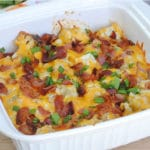Low Carb Keto Loaded Cauliflower Casserole