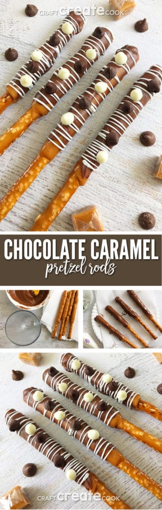 Our Chocolate Caramel Pretzel Rods will have you drooling for more after each bite.