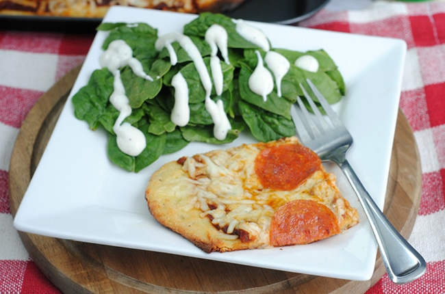This low carb Keto friendly Fathhead Pizza is easy to make and delicious!
