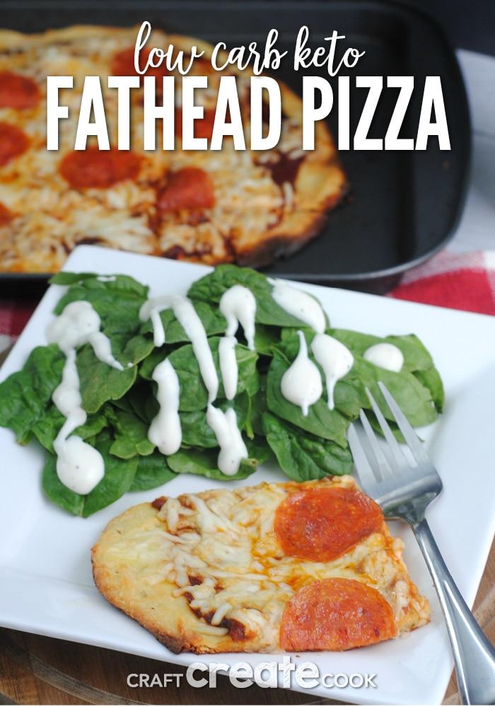 This low carb Keto friendly Fathead Pizza Dough is easy to make and delicious!