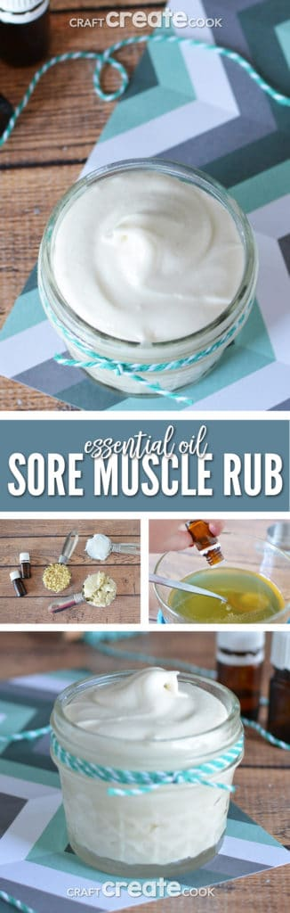 If you've hopped on the new year, new you exercise band wagon like I have, you might need this essential oil sore muscle rub!