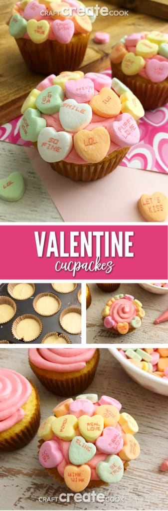 If you want to make cupcakes for Valentine's Day that look store bought? Our Conversation Heart Cupcakes are perfect for the job.