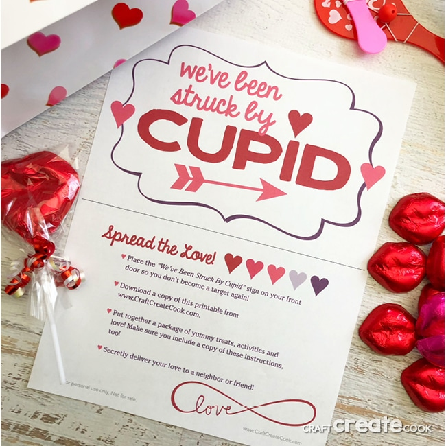 You and your neighbors will have so much with our You've Been Cupid Struck Neighborhood Valentine Game.